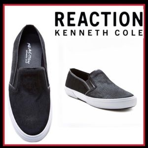 NWOT PONY HAIR SLIP-ONS KENNETH COLE REACT…